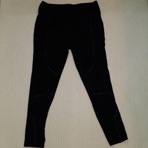 Express black leggings, leather trim, equestrian